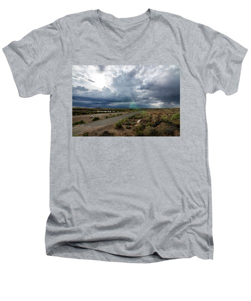 Watching The Storms Roll By Men's V-Neck T-Shirt