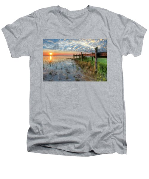 Watching The Sun Rise Men's V-Neck T-Shirt
