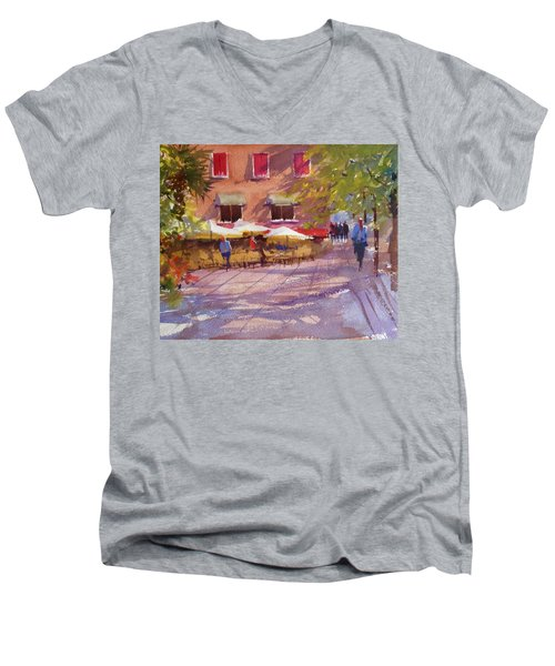 Watching The World Go By Men's V-Neck T-Shirt