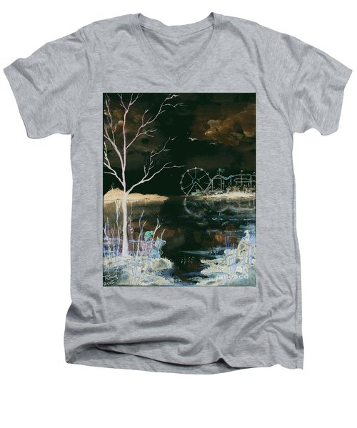Watching The World Go Round Inverted Men's V-Neck T-Shirt