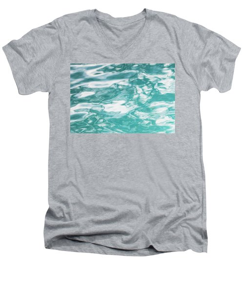 Water Abstract 001 Men's V-Neck T-Shirt by Rich Franco
