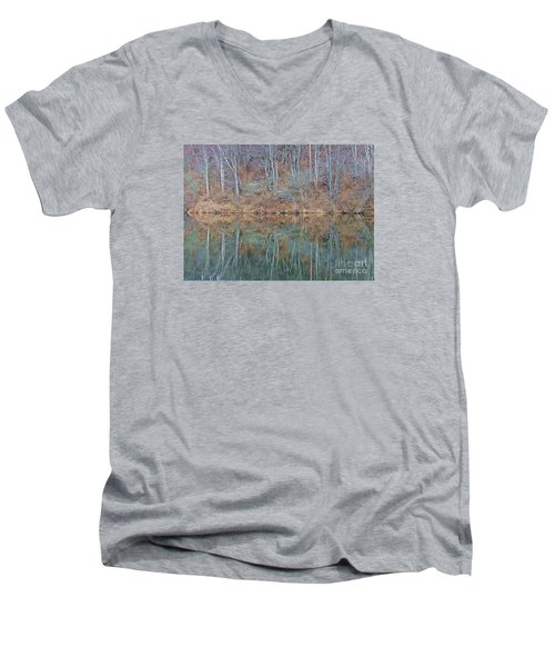 Men's V-Neck T-Shirt featuring the photograph Water And Lace by Christian Mattison