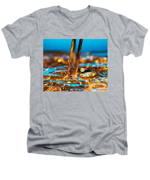 Water And Oil Men's V-Neck T-Shirt