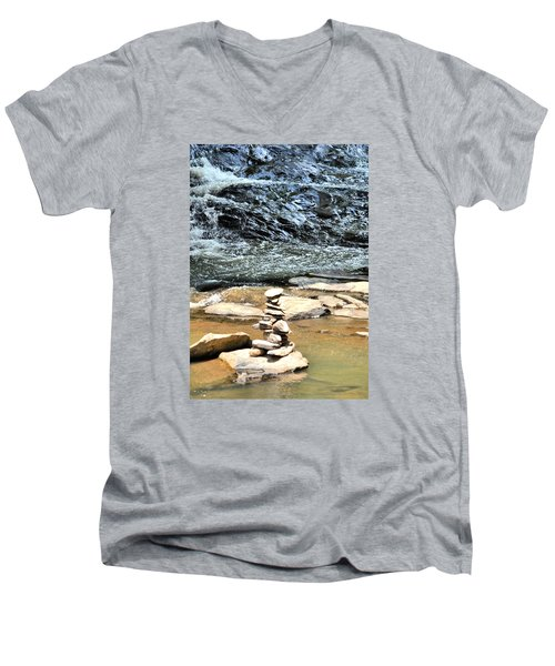 Water And Stone Men's V-Neck T-Shirt by James Potts