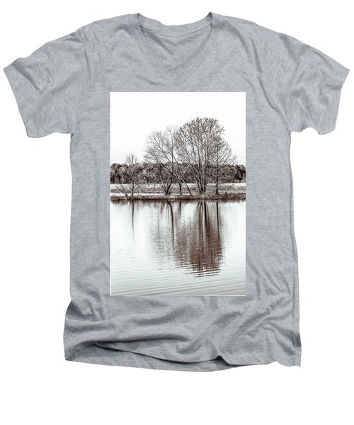 Men's V-Neck T-Shirt featuring the photograph Water And Trees by Wade Brooks