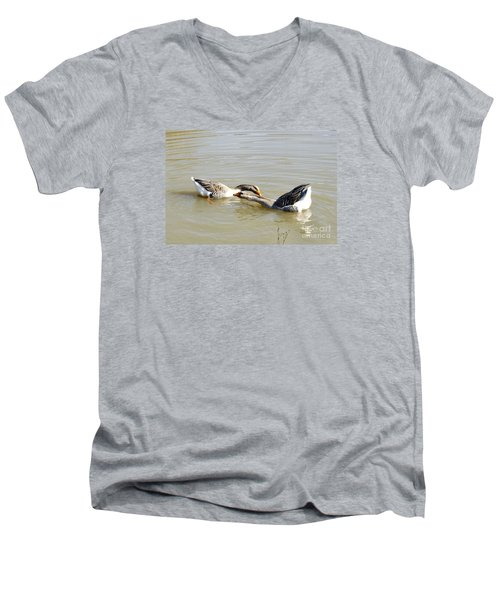 Water Arobics Men's V-Neck T-Shirt