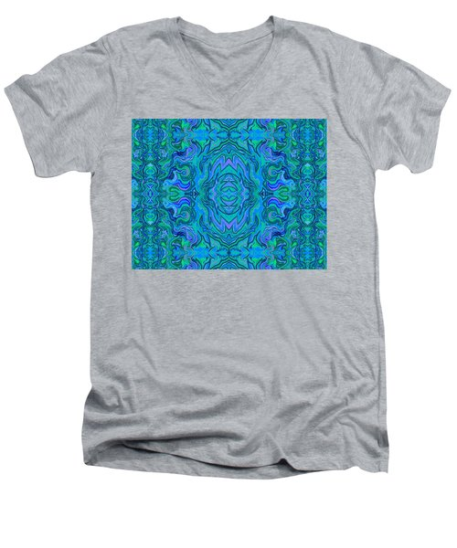Water Art Pattern  Men's V-Neck T-Shirt