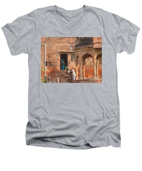 Water Delivery In Vrindavan Men's V-Neck T-Shirt