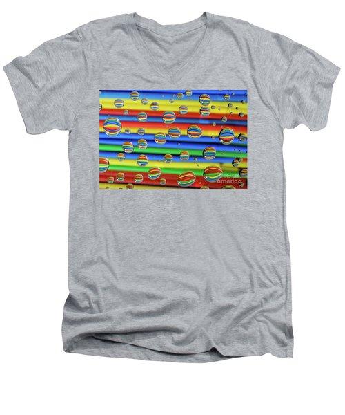 Water Droplets Men's V-Neck T-Shirt