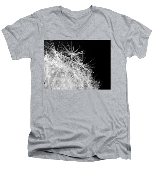 Water Drops On Dandelion Men's V-Neck T-Shirt