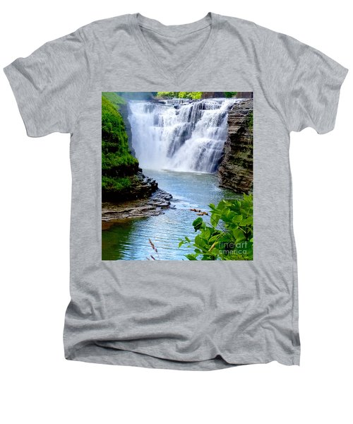 Water Falls Men's V-Neck T-Shirt