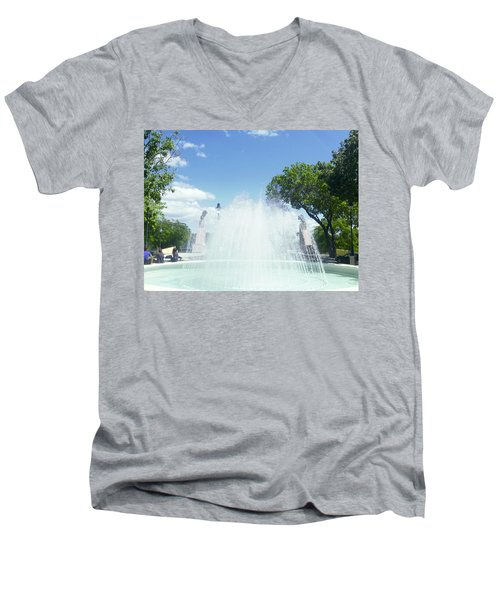 Water Fountain Ponce, Puerto Rico Men's V-Neck T-Shirt