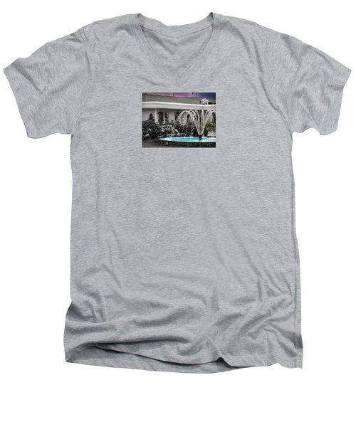 Water Fountain Men's V-Neck T-Shirt by Robin Regan