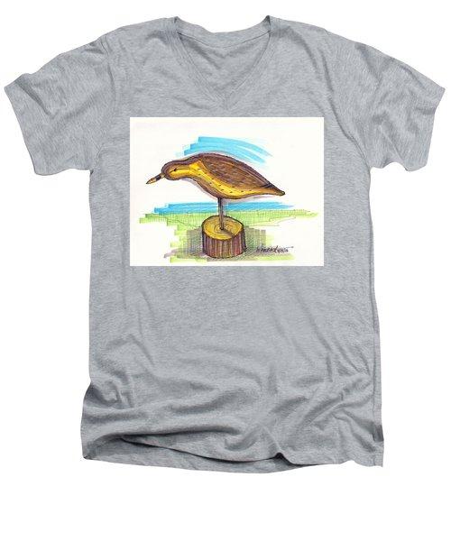 Water Fowl Motif #7 Men's V-Neck T-Shirt
