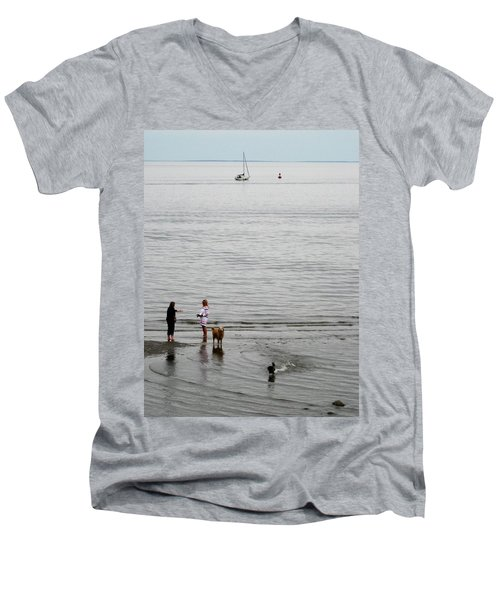 Water Fun Men's V-Neck T-Shirt by John Scates