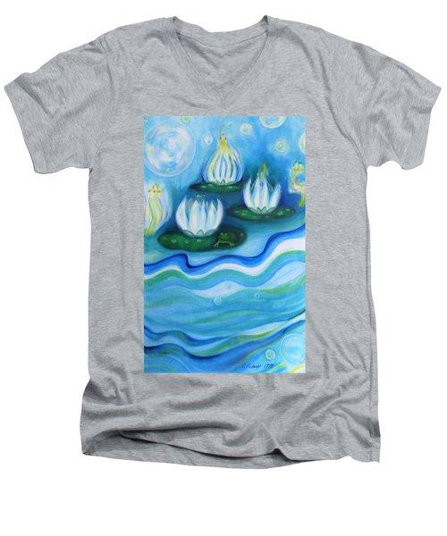 Water Garden Men's V-Neck T-Shirt