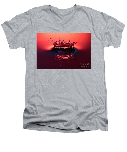 Water Hits Water Men's V-Neck T-Shirt