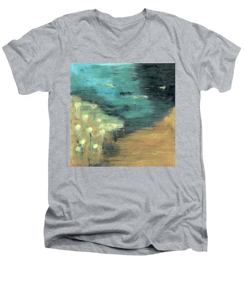 Water Lilies At The Pond Men's V-Neck T-Shirt by Michal Mitak Mahgerefteh