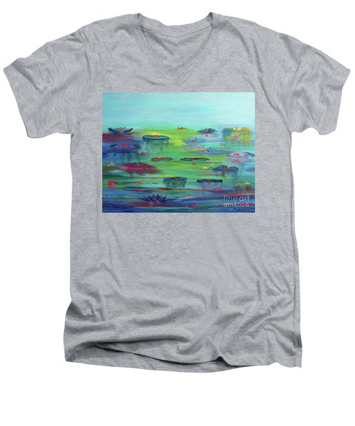Water Lillies Men's V-Neck T-Shirt