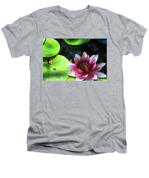 Water Lilly Men's V-Neck T-Shirt by Betty Buller Whitehead