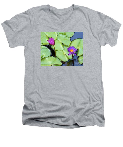 Water Lily 2 Men's V-Neck T-Shirt