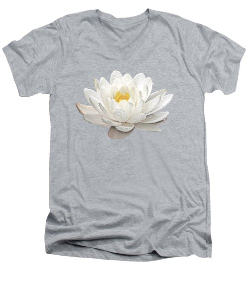 Water Lily Whirlpool Men's V-Neck T-Shirt by Gill Billington