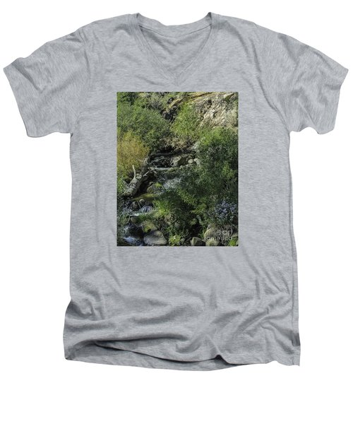 Men's V-Neck T-Shirt featuring the photograph Water Logged by Nancy Marie Ricketts
