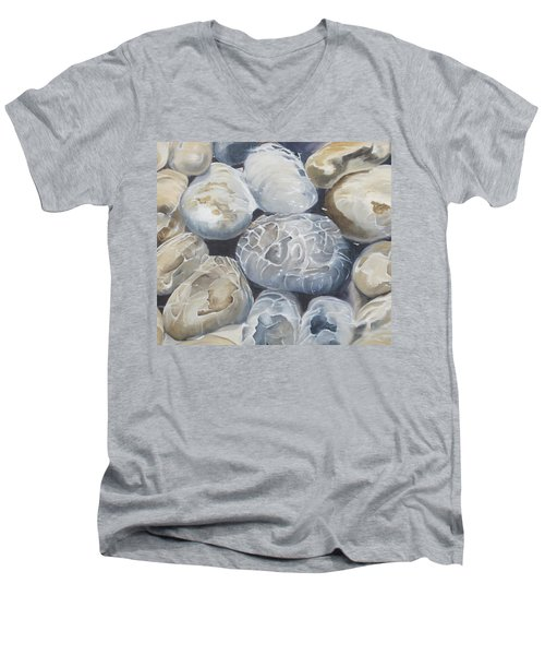 Water Of Pebbles Men's V-Neck T-Shirt