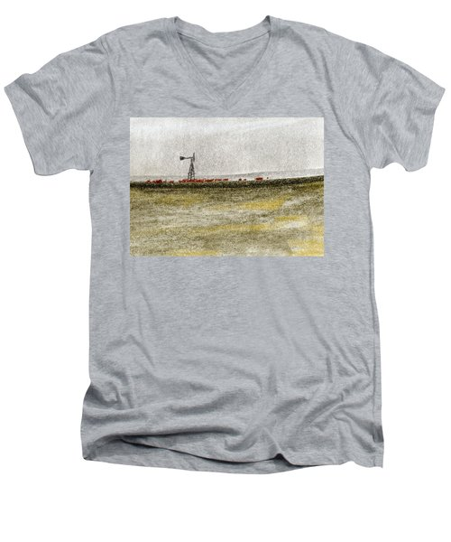 Water, Ranching, And Cattle Men's V-Neck T-Shirt by R Kyllo