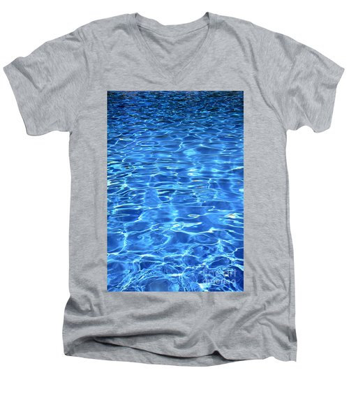 Men's V-Neck T-Shirt featuring the photograph Water Shadows by Ramona Matei