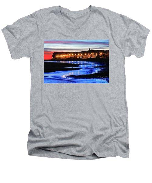 Water Snake Men's V-Neck T-Shirt by Bernardo Galmarini