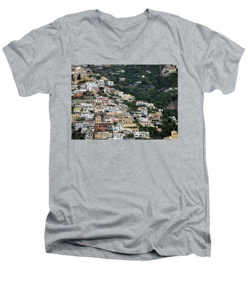 Water Taxi From Amalfi To Positano Men's V-Neck T-Shirt