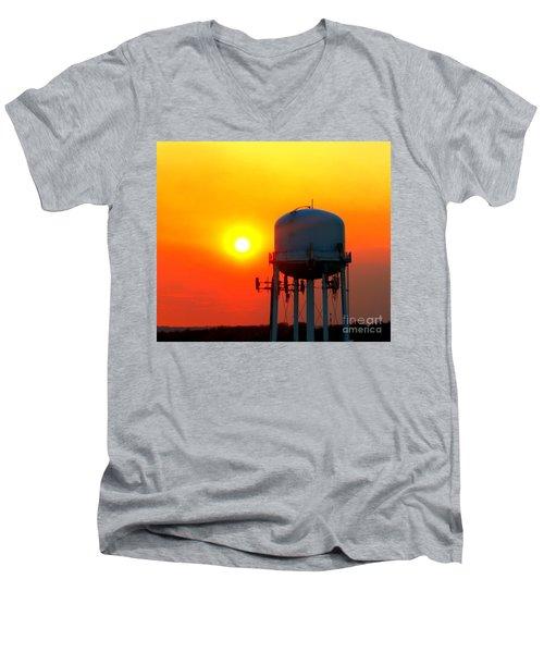 Water Tower Sunset Men's V-Neck T-Shirt
