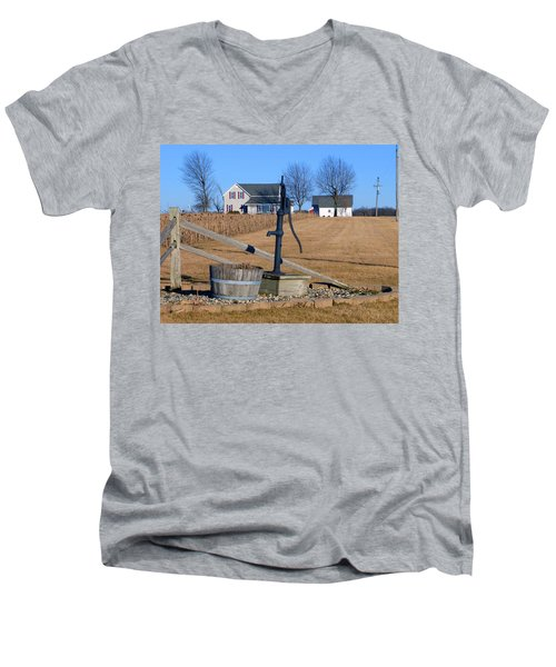 Water Well Men's V-Neck T-Shirt by Tina M Wenger