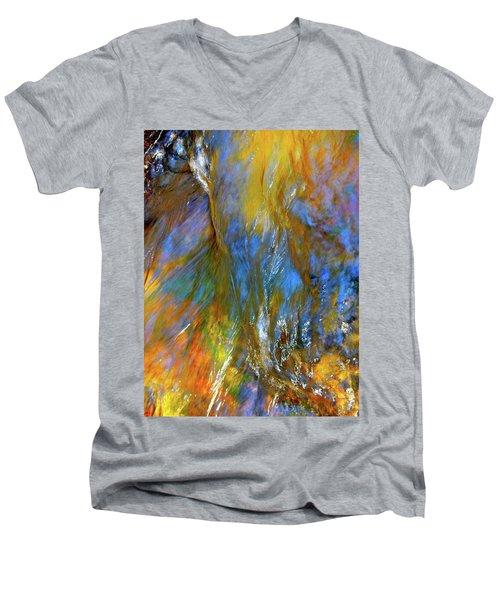 Water Wonder 164 Men's V-Neck T-Shirt by George Ramos