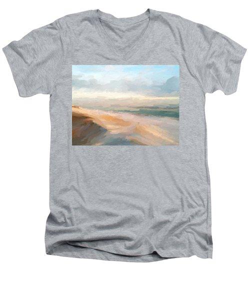 Watercolor Beach Abstract Men's V-Neck T-Shirt