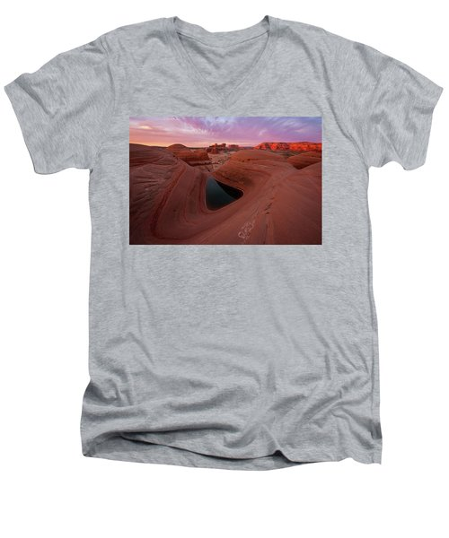 Men's V-Neck T-Shirt featuring the photograph Watercolor Morning by Dustin LeFevre