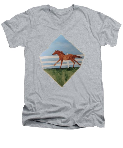 Watercolor Pony Men's V-Neck T-Shirt