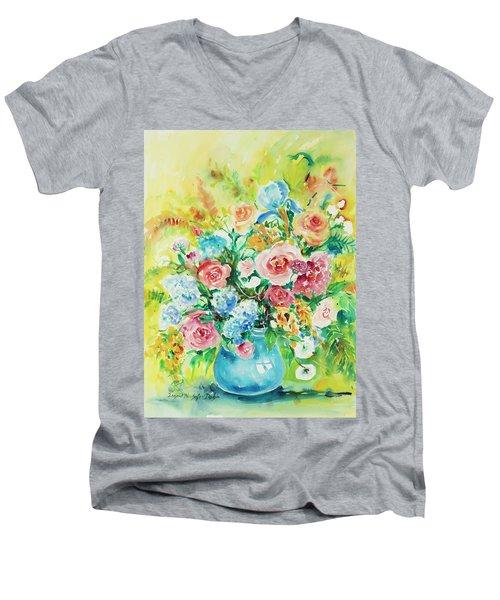 Watercolor Series 120 Men's V-Neck T-Shirt