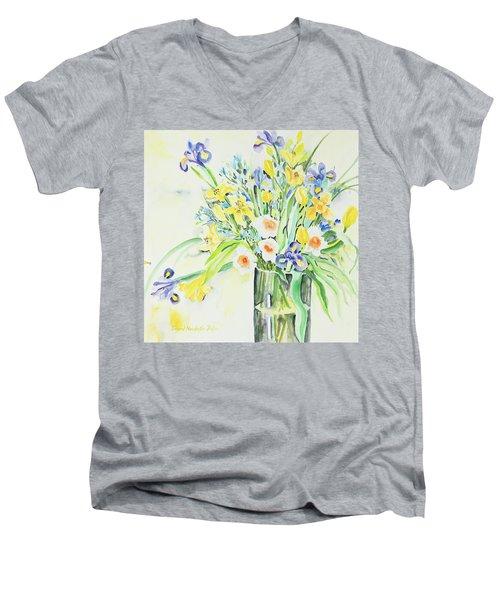 Watercolor Series 143 Men's V-Neck T-Shirt