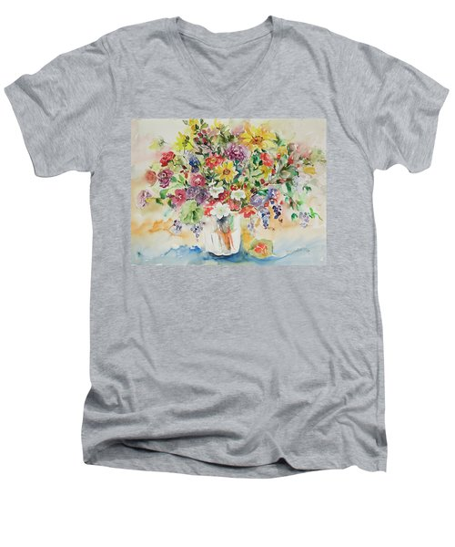 Watercolor Series 33 Men's V-Neck T-Shirt