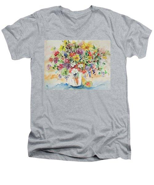 Watercolor Series 33 Men's V-Neck T-Shirt