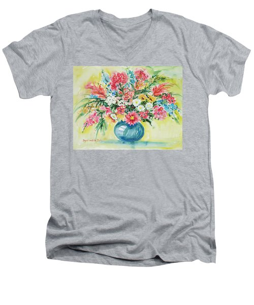 Watercolor Series 58 Men's V-Neck T-Shirt