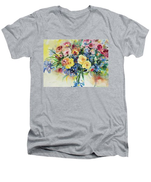 Watercolor Series 62 Men's V-Neck T-Shirt