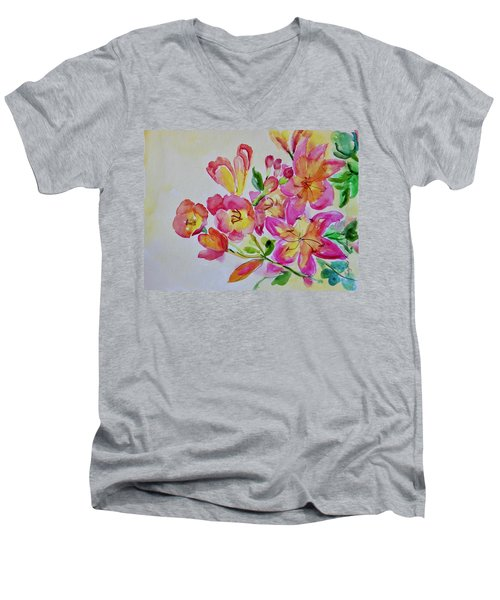 Watercolor Series No. 225 Men's V-Neck T-Shirt