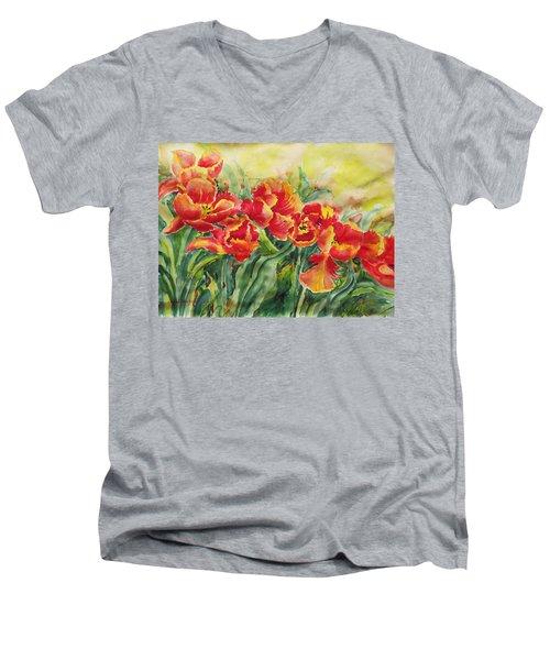 Watercolor Series No. 241 Men's V-Neck T-Shirt