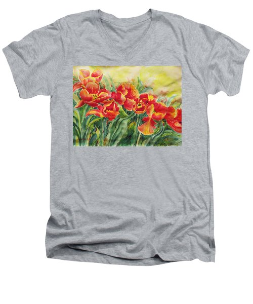 Watercolor Series No. 241 Men's V-Neck T-Shirt