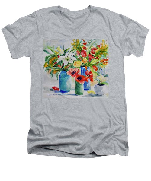 Watercolor Series No. 256 Men's V-Neck T-Shirt