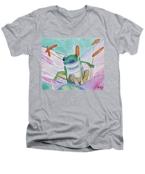 Watercolor - Tree Frog Men's V-Neck T-Shirt