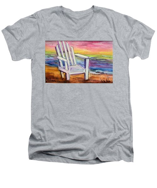 Watercolor White Chair Men's V-Neck T-Shirt